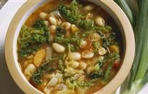 Ribollita (Bean soup with vegetables and bread)