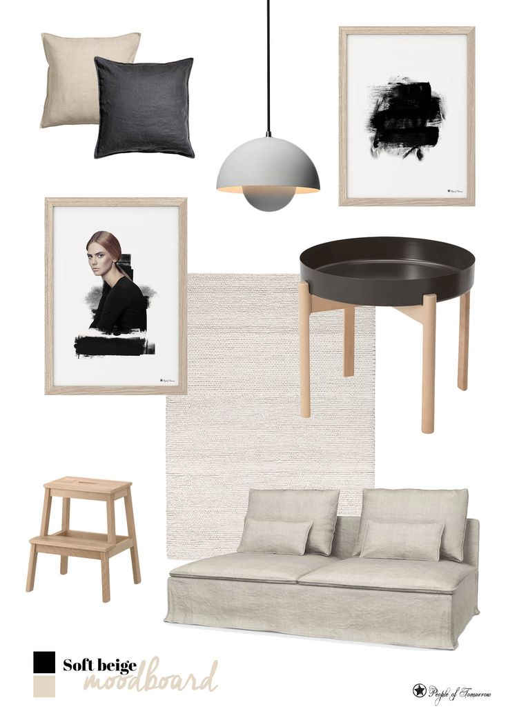 Soft hues // Black Harmony and Black Brush art prints by People of Tomorrow