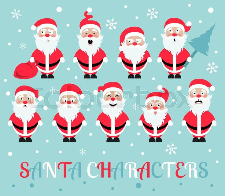 Santa Claus, vector graphic