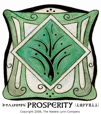 Sigils & Symbols:  The #Faery #Prosperity #Symbol ~ The center tree-like symbol is a prosperity symbol given to us by the Elves. It can be placed in your home to draw  the energy of prosperity to you. The green color was used because it is the color of prosperity and abundance (and also the color of money!).