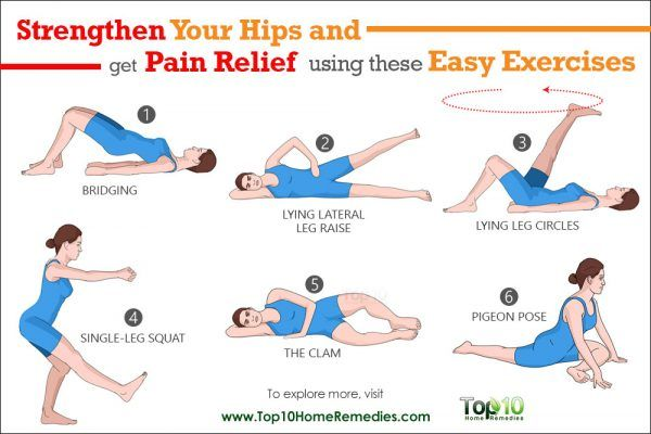 10 Easy Exercises To Strengthen Your Hips And To Help