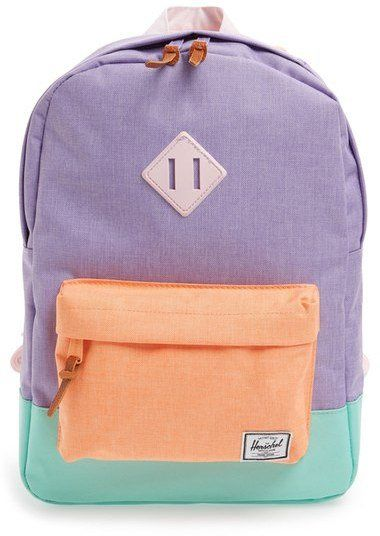 Pin for Later: 32 Mom-Approved Backpacks For Back to School That Are Seriously Awesome Herschel Kids' Colorblock Canvas Backpack This canvas Herschel kids' backpack ($50) comes with a protective tablet sleeve.