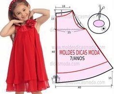 Aquí unos cuantos patrones para vestidos infantiles y algo mas…..Espero que alguno sea de tu gusto. Patrones y fotografias via moldesdicasmoda.com