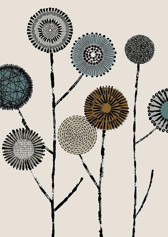 Ich habe damit begonnen, eine neue Kollektion von Mitte des Jahrhunderts inspiriert Drucke ich den Grafiker-Bereich genannt habe, und dies ist der zweite von ihnen! Es werden mehrere im Bereich und, während sie allein gut aussehen können auch kombiniert werden, um eine Gruppe von koordinierende Drucke zu erstellen. Die Farben werden ganz stumm geschaltet und sind dunkel blaugrün, Tan braun und weich grau auf einem Stein farbigen Boden. Alle meine Bilder beginnen Leben, wie etwas Hand…