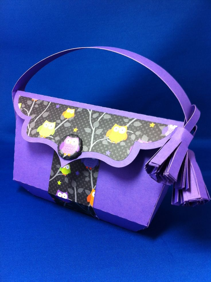 handmade made on my silhouette from the Luxury Handbag kits from #svgcuts
