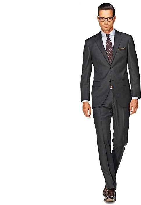 Suit Dark Grey Pinstripe Napoli P1104i-jd | Suitsupply Online Store