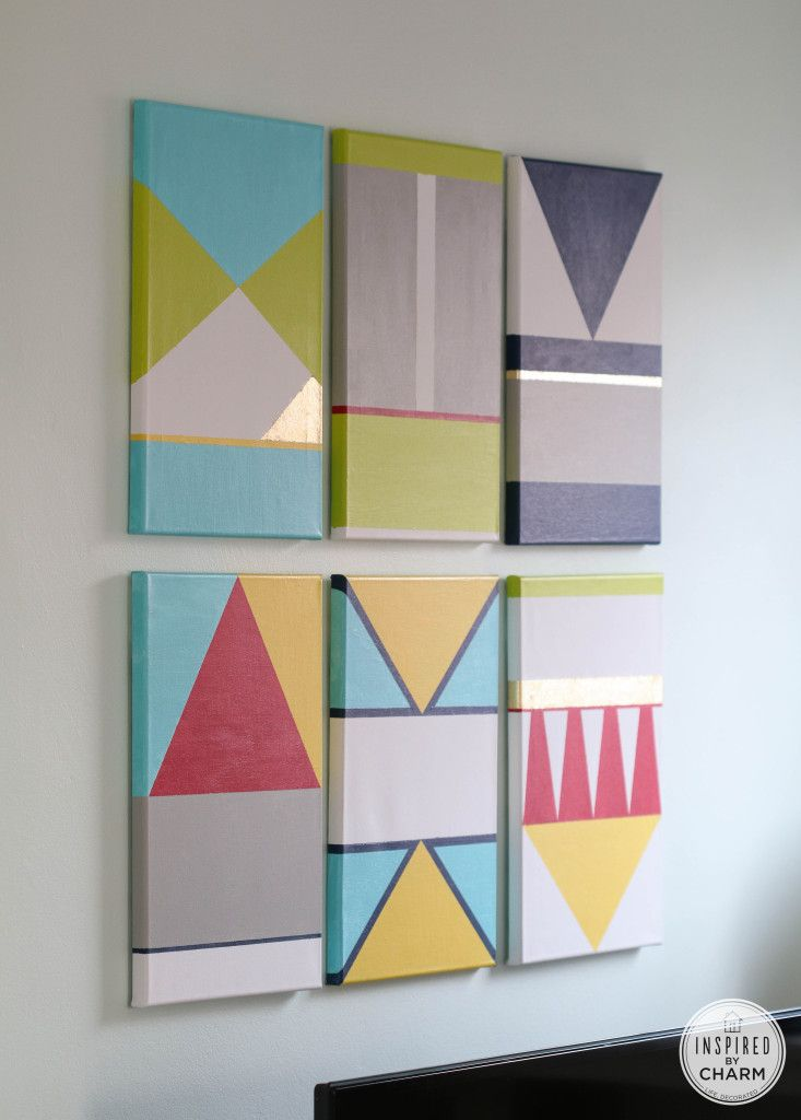"DIY Colorful Artwork  Can change design to possibly nautical alphabet for Bri & Jonny""s apt."