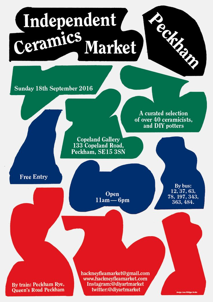 New poster for the Independent ceramics market in London