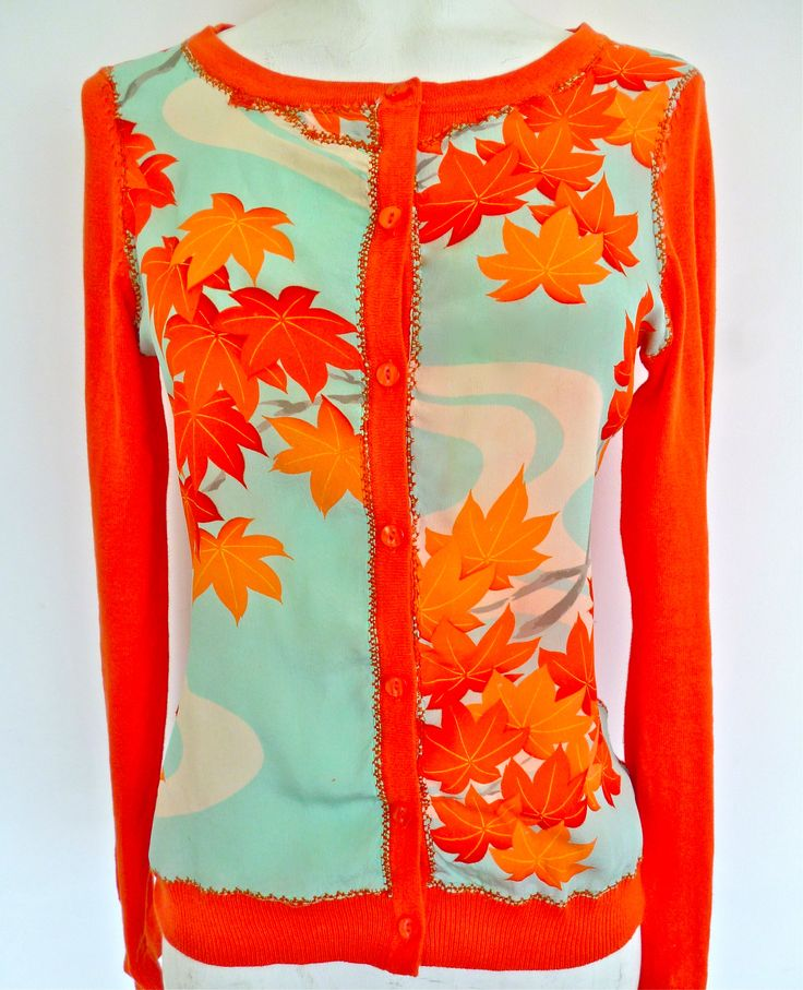 limited edition cotton cardies vintage hand painted silk kimono front panel, fall 2012