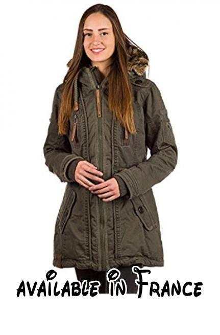 B01MZFT56N : Naketano Haubitze V Female Jacket Olive L. Veste en imitation fourrure dans la capuche et le long de la fermeture. 100% cotton. Pas de lavage en machine ne pas passer au sèche-linge ne pas repasser Nettoyage à sec