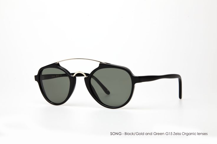 SONG in Black/Gold and Green G15 Zeiss Organic lenses