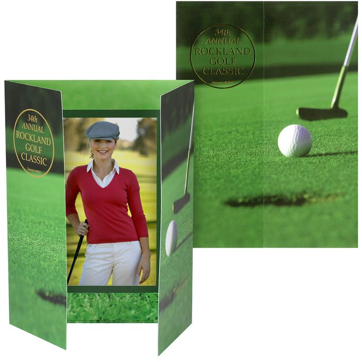 "Golf Event Photo Folder for Vertical 4"" x 6""  Photos 