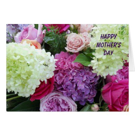 Pretty Garden Flower Bouquet Happy Mother's Day Card - tap to personalize and get yours