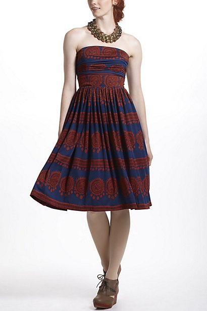 Oxidized Medallions Dress #anthropologie Like the fabric ...