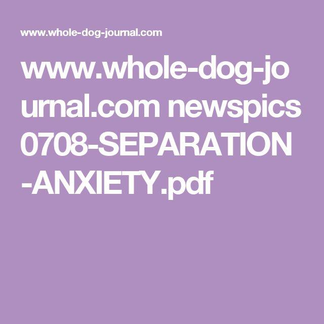 www.whole-dog-journal.com newspics 0708-SEPARATION-ANXIETY.pdf