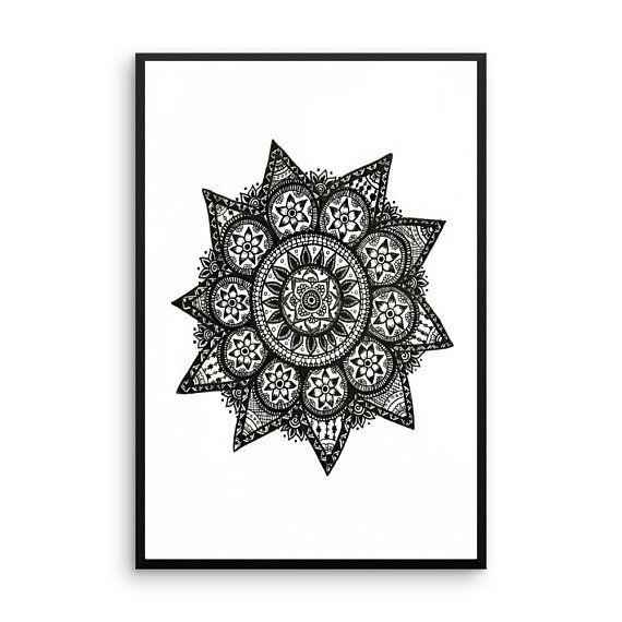 Mandala Art Instant Download Printable Art Spiritual Mandala #Art,#Instant Download, #Printable Art, #Spiritual, #Healing, #Mandala, #Hand drawn, #Wall Art, #Decor, #Design, #Zentangle, #minimalist
