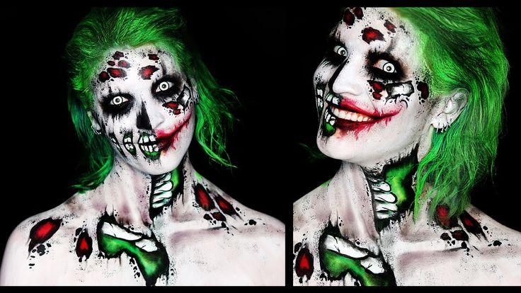 Zombie Joker Makeup Tutorial   31 Days of Halloween