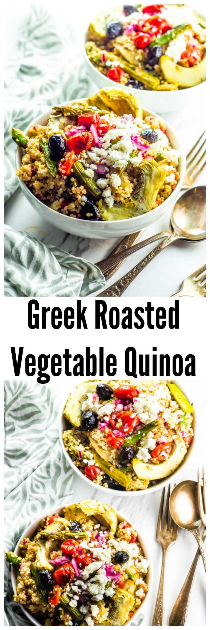 Roasted Vegetable And Quinoa Greek Salad