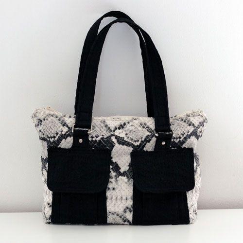 sac bol ro en vinyl serpent et coton noir patron de couture sac tin bags pinterest. Black Bedroom Furniture Sets. Home Design Ideas