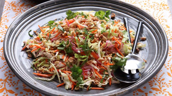This delicious Vietnamese chicken coleslaw packs a hearty sweet-and-sour punch.