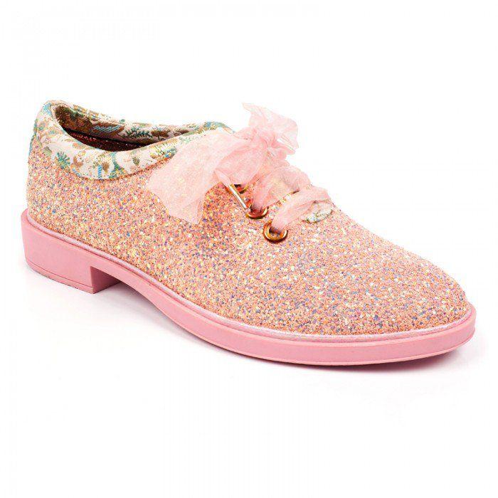 TOMS Tiny Classic - Zapatos con Purpurina, Color Rosa, Color Rosa, Talla 34.5 EU