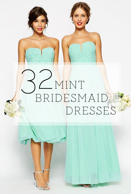 Brides.com: . It's springtime, and you know what that means: pastels galore for your wedding color palette! There's no better way to show off your color of choice than on that best girl squad, your bridesmaids. And while blush is certainly the bridesmaid dress color dujour, we're digging something a little mintier lately. If you're a bride keeping up with the latest trends, shades of green should definitely be on your mind. A mint bridal party is refreshingly (pun intended!) springy…