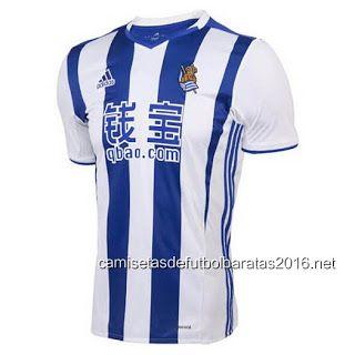 Comprar replicas camisetas de fútbol baratas 2016 : Comprar La Liga nueva camiseta Real Sociedad 2017 ...