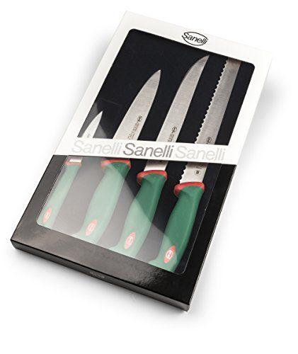 Sanelli Premana Professional Confezione 4 Pezzi, Acciaio Inossidabile, Verde/Rosso, 40.0x24.0x3.0 cm, http://www.amazon.it/dp/B00Q6NV734/ref=cm_sw_r_pi_n_awdl_WC8Lxb95ABWZE