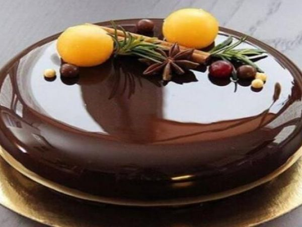 Шоколадная зеркальная глазурь для торта — vkusno.co