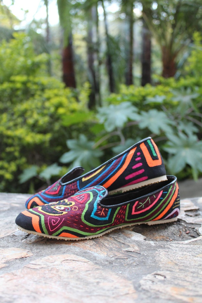 Current obsession: Teysha colorful handmade flats - woven by artisans in Panama and Colombia, no two are alike.