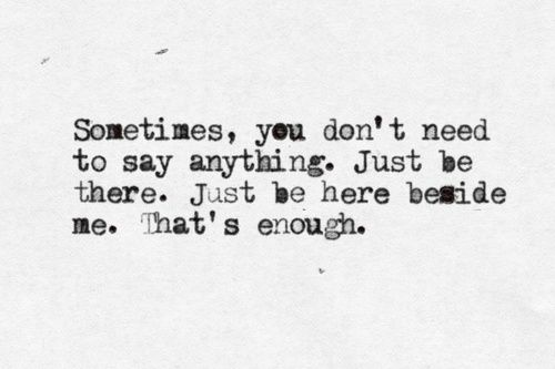 sometimes it's all you need