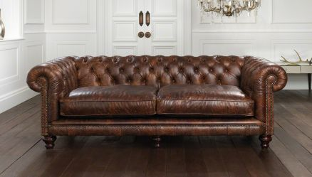 """Hampton Tufted Chesterfield Sofa starting at $2202.00 for the 186 cm (6'1"""") starting at $2286.00 for the 231 cm (7'7"""") starting at $2594.00 for the 273 cm (8'8"""")  Up to $4838.00 for the two seat in a signature leather"""