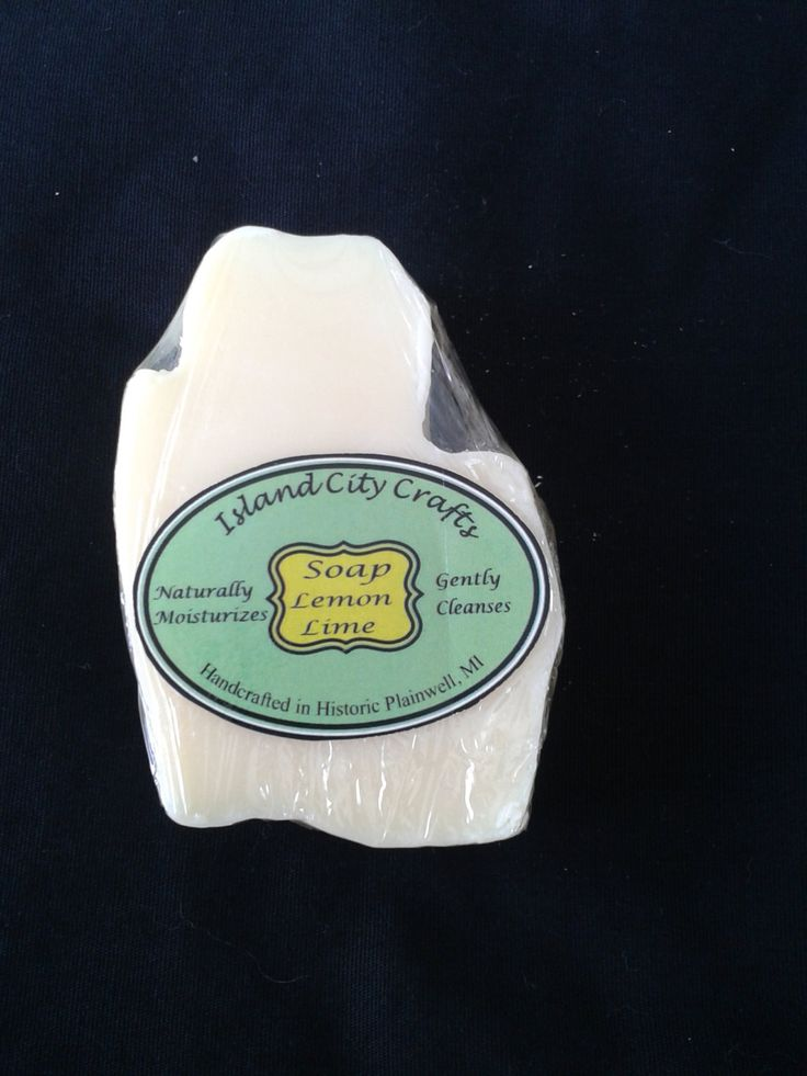 Lemon Lime Soap, Michigan Shape, Cold Processed soap, All Natural soap, handmade soap, Vegan soap, Cleansing soap, Essential oils by IslandCityCrafted on Etsy