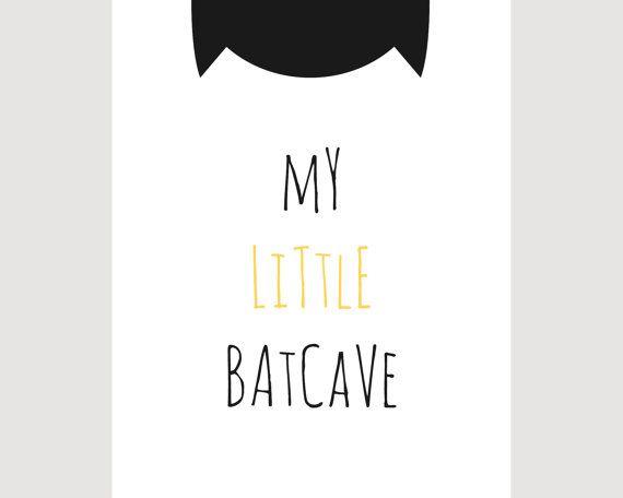 50% OFF: My Little Bat Cave Batman Nursery Print by Framesta
