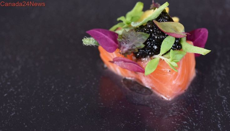 Chef Patrick Kriss' salmon sashimi with yuzu-ginger dressing