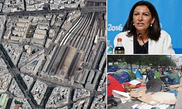 Two migrant camps to open next to Gare du Nord in Paris..16