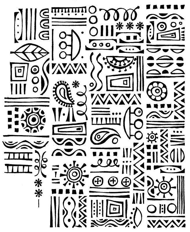 Miriam Badyrka Is The Doodler Imaginary Alphabet Doodles Afrikanische Muster Kritzeln Kunst Ethnische Muster