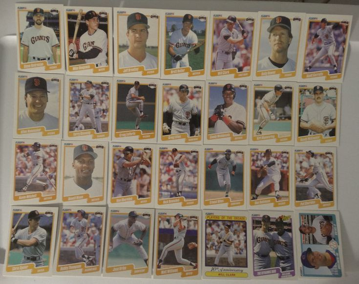 1990 Fleer San Francisco Giants Team Set of 28 Baseball Cards Missing 56 Lacross #sfgiants #SanFranciscoGiants