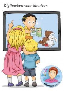Digitale prentenboeken,  activiteiten voor kleuters op het digibord, computer of tablet, ga voor de spellen naar kleuteridee