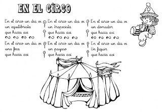 "Fichas Infantiles: Poema ""En el Circo"" para infantil …"