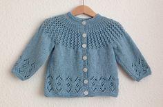 Rosabel Knitted Baby Cardigan [FREE Knitting Pattern] More