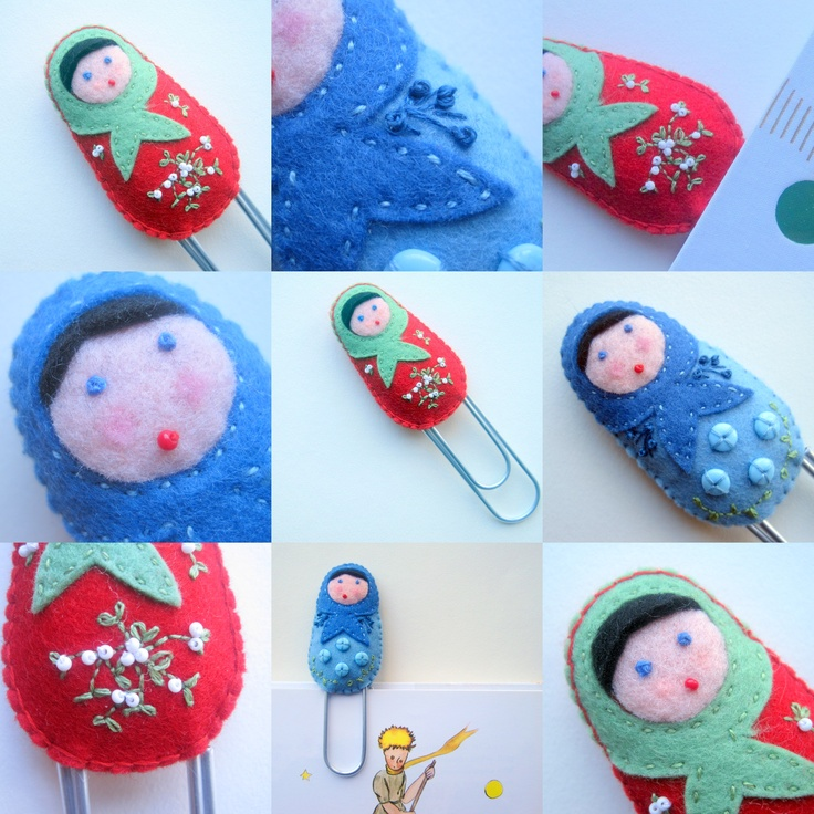 A mix of embroidery and beading for these bookmarks...