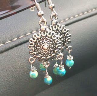 Biżuteria- moja pasja!: Nowe kolczyki z koralikami:-) - wiosennie!