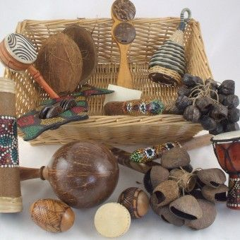 Sound Treasure Basket  ≈≈ For more inspiring pins: http://pinterest.com/kinderooacademy/auditory-play/