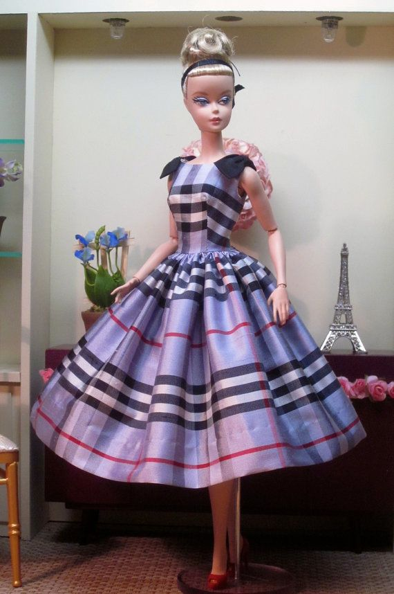 Burberry Blue Party Dress by Bellissimacouture on Etsy