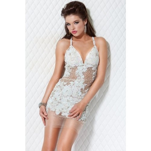 #Jovani 14338 Short Beaded #Dress http://www.mysharedpage.com/jovani-14338-short-beaded-dress