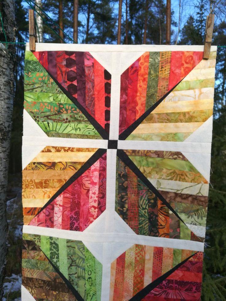 Lövblock, quilt. Leaf, leafblock.