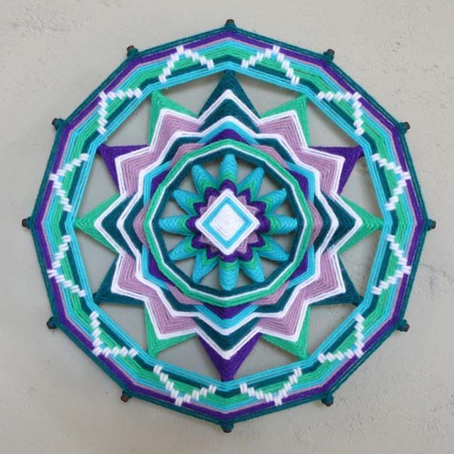 Shedding Light, a 12 inch Ojos de Dios by Jay Mohler