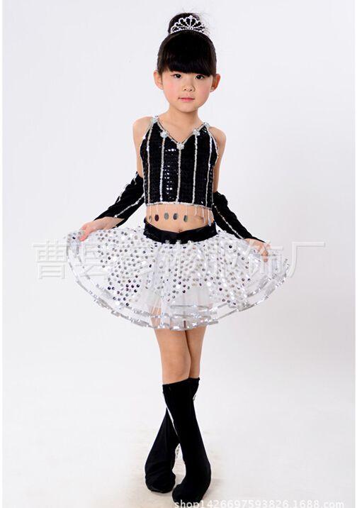 Trajes de baile de jazz para las niñas más del tamaño 6 tamaños B023 moderna princesa Tutu vestido de baile de lentejuelas jazz dancewear en Salón de Novedad y de uso especial en AliExpress.com   Alibaba Group