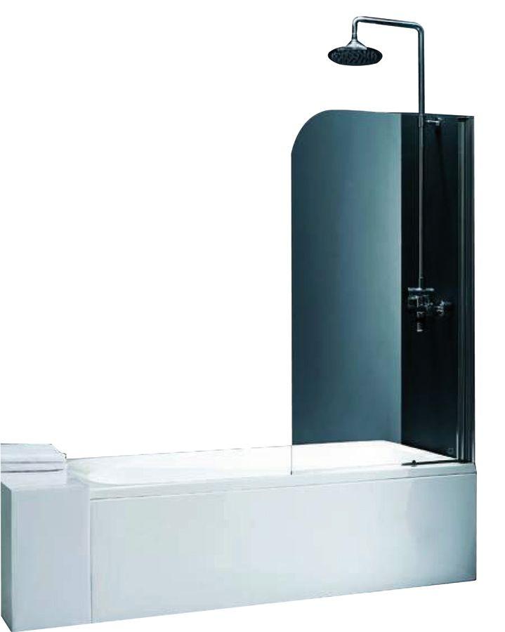 """Badekar med """"kabinett"""" http://www.bad.no/produkter/badekar1/badekarsvegg/alterna/alterna-mimas-badekarvegg-75x130-fkr-klart-glass/"""